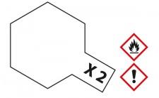 Tamiya, Acrylfarbe X -2 WEIß glänzend, 23ml Tamiya 81002