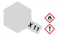 Tamiya, Acrylfarbe X-11 CHROM SILBER glänzend, 23ml Tamiya 81011
