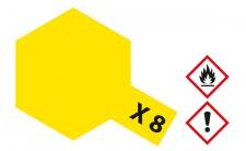 Tamiya, Acrylfarbe X -8 ZITRONEN-GELB glänzend, 23ml Tamiya 81008