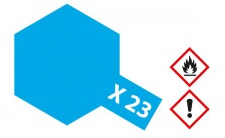 Tamiya, Acrylfarbe X-23 Klar-Blau glänzend, 23ml Tamiya 81023