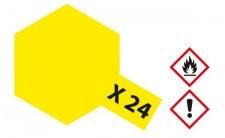 Tamiya, Acrylfarbe X-24, Klar-Gelb glänzend, 23ml Tamiya 81024