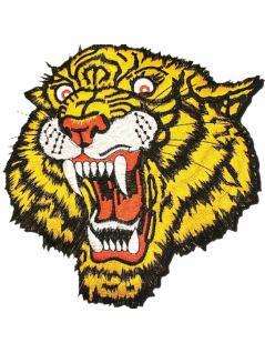 Aufnäher Tigerkopf gelb groß