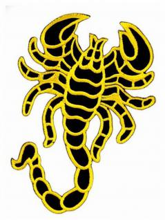 Aufnäher Skorpion gelb mittel