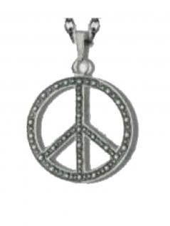 Kette mit Anhänger Peacezeichen