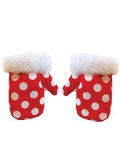 Baby Handschuhe rot mit weißen Punkten