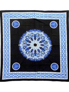 Tagesdecke Cosmos blau 220 x 220 cm