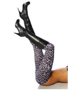 Leggings Leopard schwarz weiß