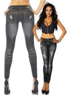 Leggings schwarz in Jeans Stonewash Optik