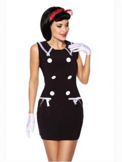 Elegantes mini kleid marine style in schwarz