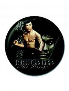 2 Button Bruce Lee schwarz