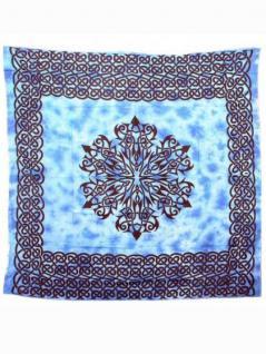 Tagesdecke Muster blau 220 x 220 cm