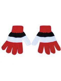 Handschuhe rot schwarz weiß