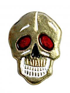 Anstecker Pin lachender Totenkopf