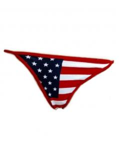 String Tanga USA rot