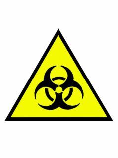 Aufnäher Biohazard gelb
