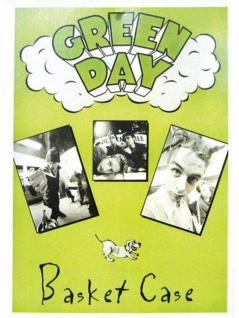 6 Green Day Basket Case Postkarten