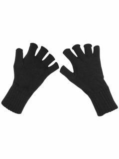 Fingerlose Handschuhe schwarz
