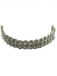 Leder Halsband Kette 3 reihig