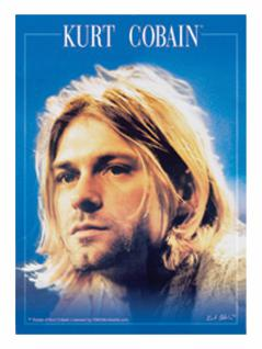 6 Kurt Cobain Face Postkarten