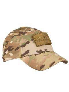 Softshell Baseball Cap multitarn mit Klett