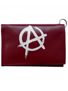 Geldbeutel mit Kette Anarchy rot weiß