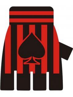 Fingerlose Handschuhe Piek rot