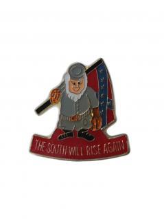 Anstecker Pin USA Süden Soldat
