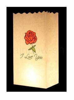 Kerzen Lichttüte I Love You