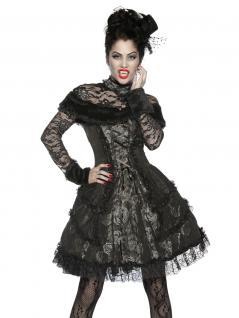 Extravagantes Vampir Kostüm schwarz grau