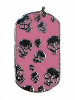 Halskette Hundemarke klein Skulls rosa