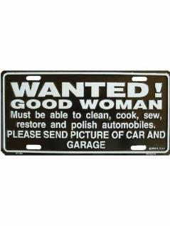 Autoschild Wanted good Woman
