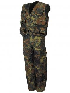 2 teiliger Militär Kinder Anzug flecktarn