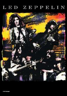 Led Zeppelin Poster Fahne How West was Won