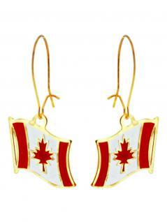 Ohrringe Flagge Canada