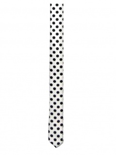 Krawatte Punkte schwarz weiß