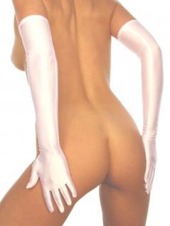 Armstulpen aus Satin weiß