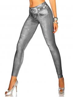 Leggings in Jeans Optik grau mit Sternen
