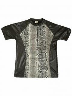 Girl T-Shirt Schlangenmuster schwarz