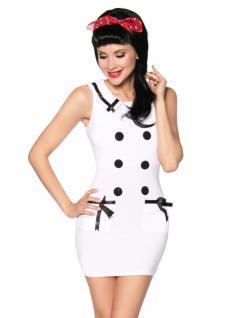 elegantes Mini Kleid Marine Style in weiß