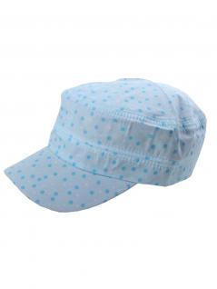 Sommercap blau mit Punkte