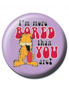 2 Button Garfield lila
