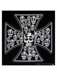 Bandana Eisernes Kreuz Totenköpfe schwarz
