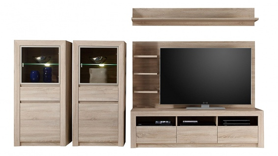 wohnzimmerm bel eiche online bestellen bei yatego. Black Bedroom Furniture Sets. Home Design Ideas