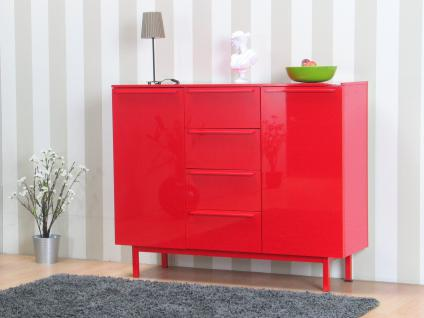sideboard hochglanz rot online bestellen bei yatego. Black Bedroom Furniture Sets. Home Design Ideas