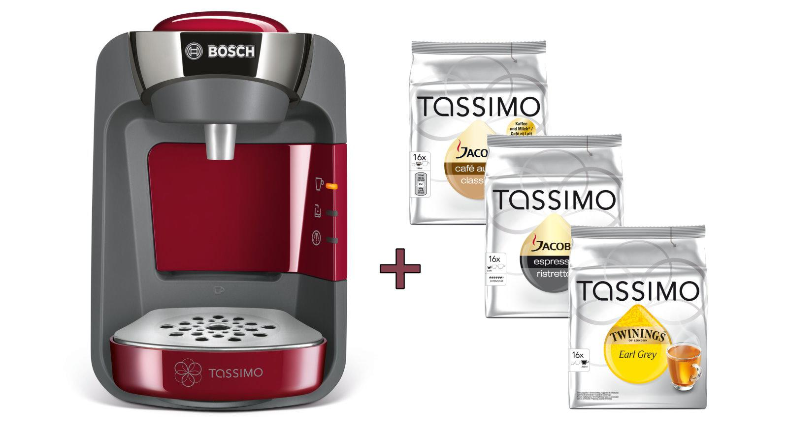 bosch tassimo suny 20 eur gutscheine 3x t disc tee hei getr nkemaschinen kaufen bei dtg. Black Bedroom Furniture Sets. Home Design Ideas