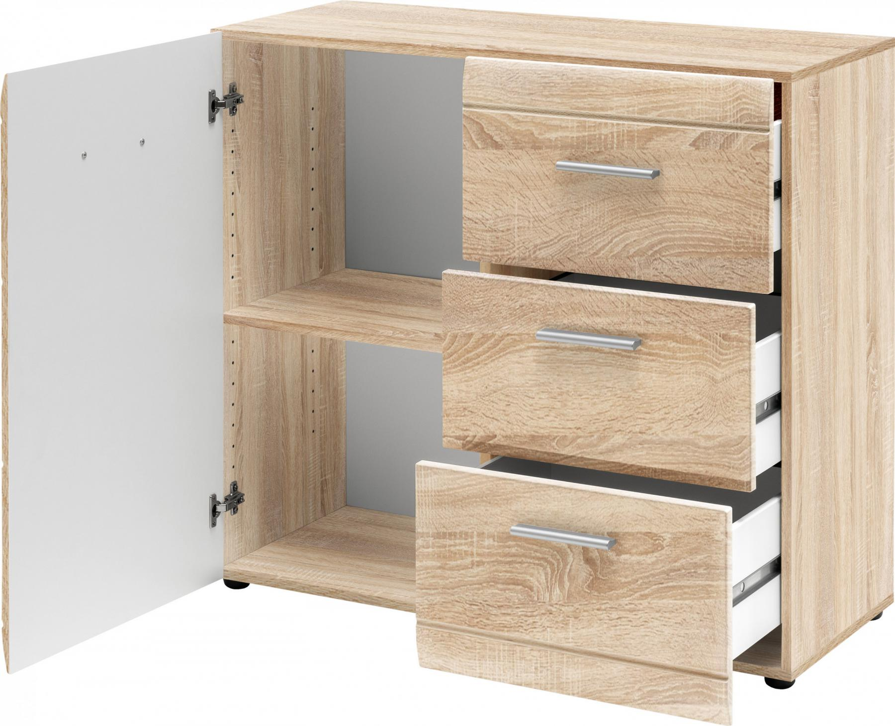 aktenschrank b roschrank universal ordner akten office schrank m bel eiche wei kaufen bei dtg. Black Bedroom Furniture Sets. Home Design Ideas
