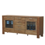 Sideboard MARK Kommode Anrichte Schrank Highboard Eiche massiv 6 Schubladen