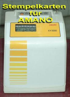 Stempelkarten für Amano Serie EX 5000