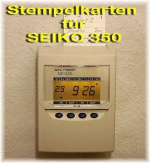 Stempelkarten für Seiko QR 350