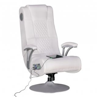 WOHNLING SPECTER Soundsessel 2.1 | Gaming Multimedia Rocking Chair | Music Rocker Soundchair | Multimediasessel Weiß